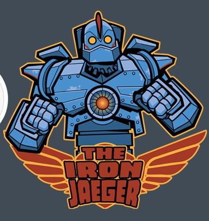 """Pacific Rim-inspired design """"Iron Jaeger""""."""