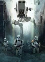 Rogue One artwork - Stormtrooper patrol