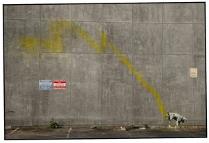Banksy dog whiz in Santa Monica