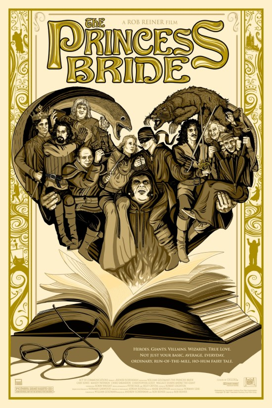 THE PRINCESS BRIDE COMMISSIONED POSTER BY PHILLIP ELLERING