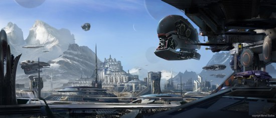 Stephan Martiniere's Guardians of the Galaxy concept art pieces shows the planet of Spartoi.