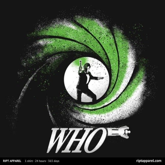 """James Bond/Doctor Who-inspired design """"The Name's Who"""""""