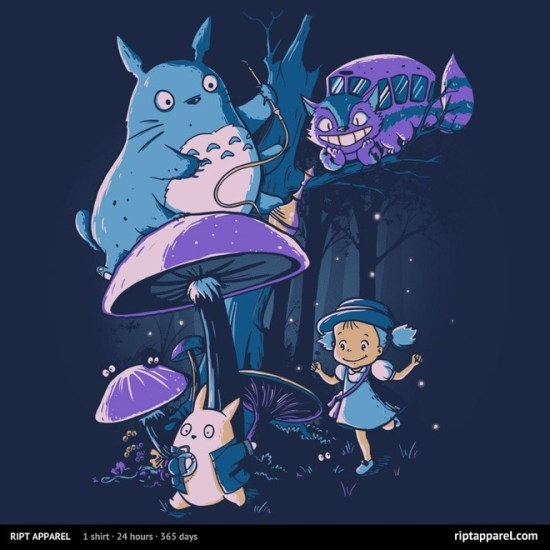 Totoro/Alice In Wonderland-inspired design