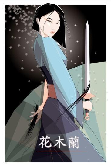 Mulan Poster By Craig Drake variant