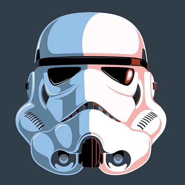 Eric Tan's retro Stormtrooper art