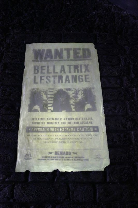 bellatrix wanted poster in knockturn alley