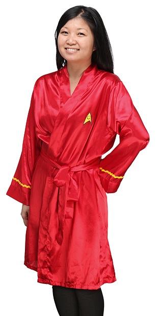 Uhura-Inspired Star Trek Satin Robe