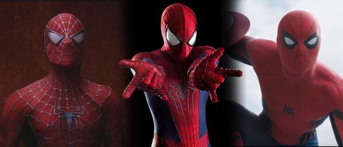 spider-man movie costume comparison