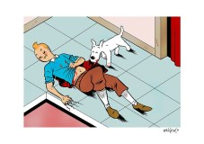 Tintin's last adventure by Miguel Porto
