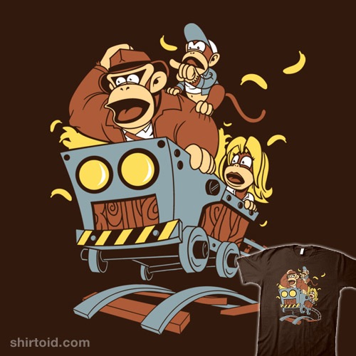 Indiana Kong and the Temple of Bananas t-shirt