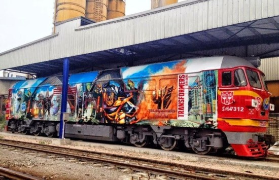 Train Painted in Transformers 4 Motif