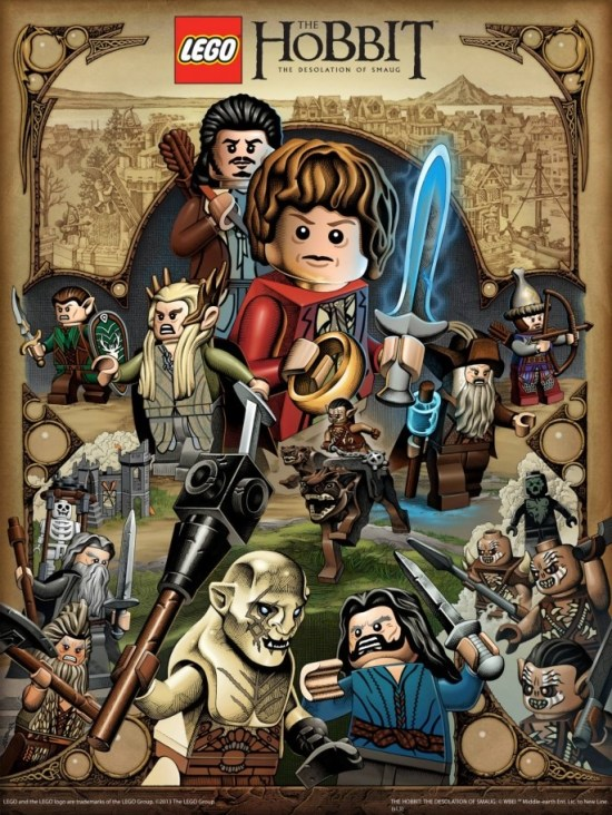 Mike Sutfin : The Desolation of Smaug Lego Poster