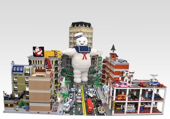 LEGO Ghostbusters New York City Diorama
