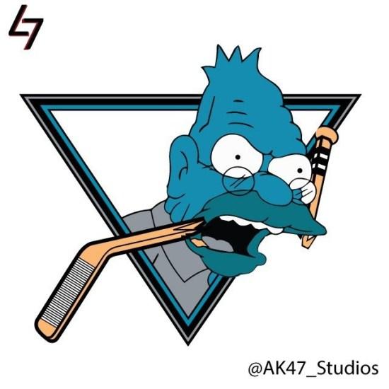NHL Hockey Team Logos Get The Simpsons Treatment