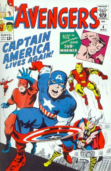 Avengers - Jack Kirby Comic Cover