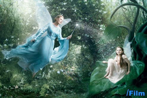 Julie Andrews as the Blue Fairy from Disney's Pinocchio and Abigail Breslin