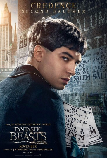 Fantastic Beasts and Where to Find Them Character Poster - Credence