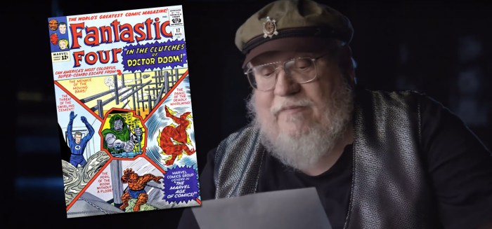 George RR Martin Marvel Comics Letter