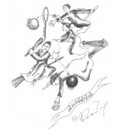 J.K. Rowling Harry Potter Sketches - Quidditch