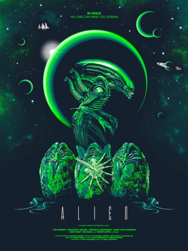 Hero Complex Gallery Blacklight Show - Alien