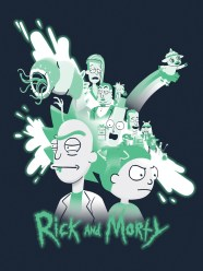 Hero Complex Gallery Blacklight Show - Rick and Morty