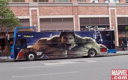 The Incredible Hulk Bus
