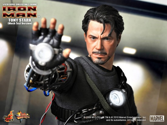 "IRON MAN - 12"" Tony Stark collectible figure (Mech Test Version)"