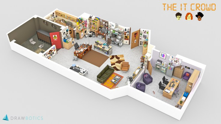 The IT Crowd 3D Floor Plan