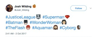 Justice League Twitter Emojis