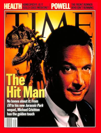 Image result for images of jurassic park and michael crichton