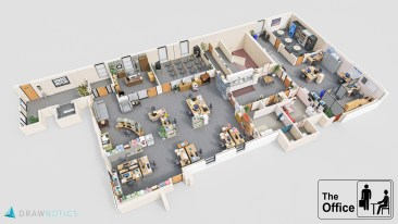 The Office 3D Floor Plan
