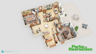 Parks and Recreation 3D Floor Plan