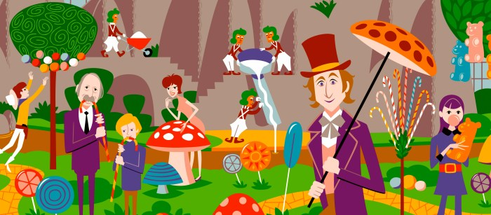 Willy Wonka and the Chocolate Factory Artwork