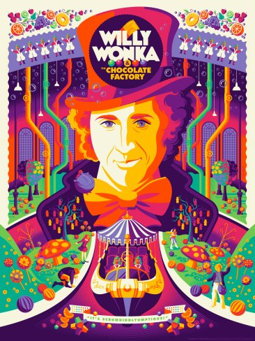 Tom Whalen Willy Wonka and the Chocolate Factory Print