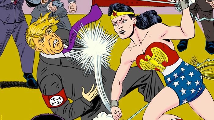Wonder Woman Donald Trump Cover