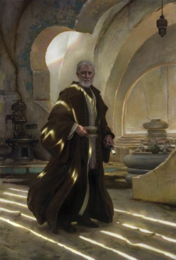 Star Wars: Visions, a portrait of Obi-Wan Kenobi by artist Donato Giancola