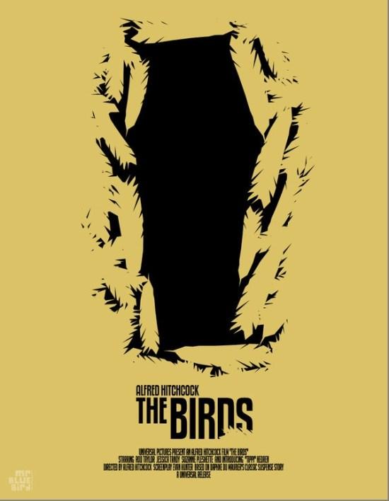 Mario Graciotti's Poster for Hitchcock's The Birds