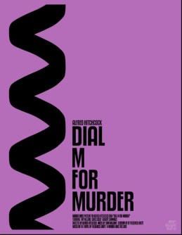 Mario Graciotti's Poster for Alfred Hitchcock's Dial M For Murder