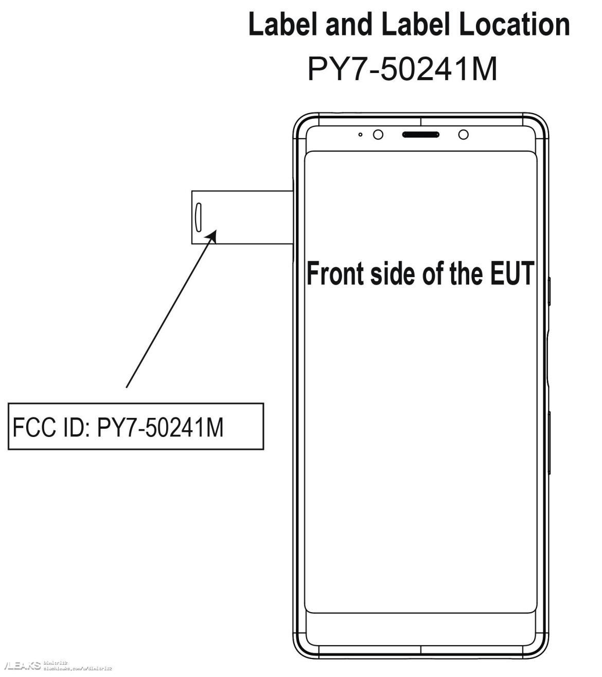 img Sony Xperia L3 diagrama revelado pela FCC; ecrã de 5,7 polegadas confirmada
