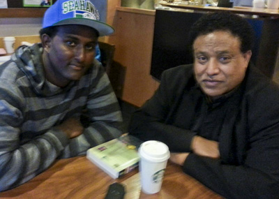 Abebe Hehn and Pastor Berhanu