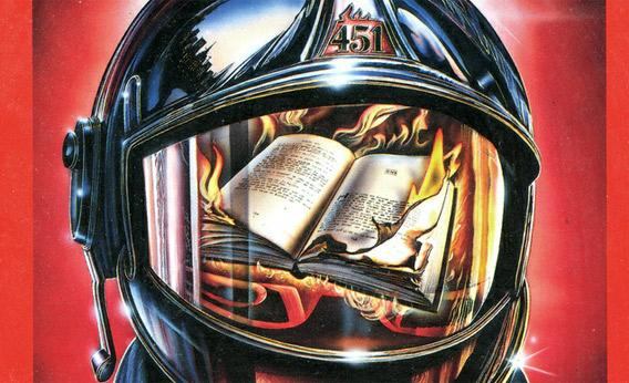 Ray Bradbury's Fahrenheit 451 book cover from 1976.