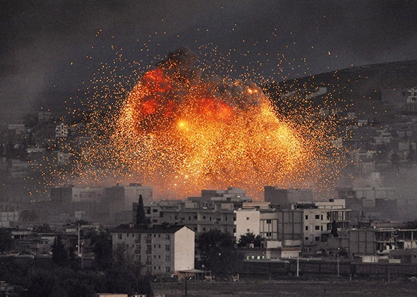 ISIS car bombing, Kobani.