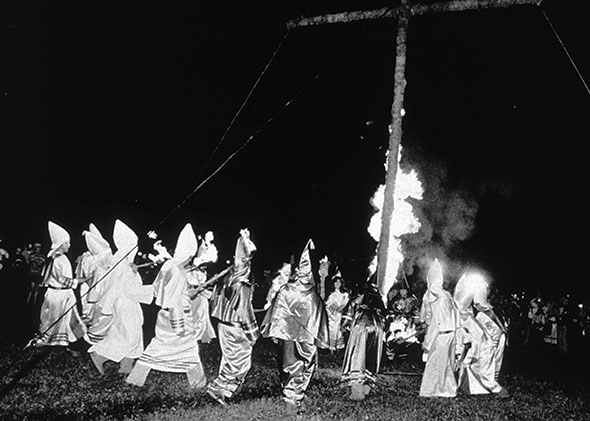 A Ku Klux Klan rally in Frederick, Maryland, 1980.