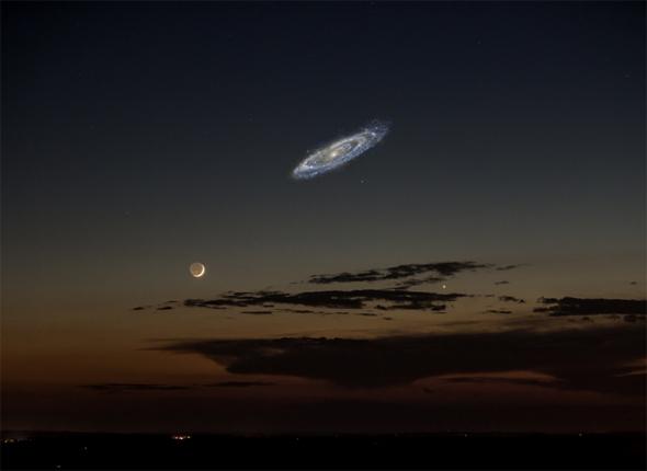 Moon and Andromeda