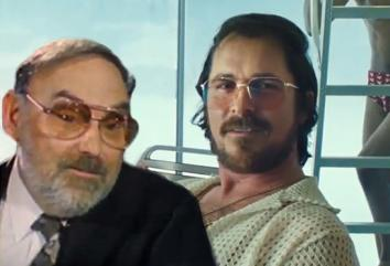 Still from 60 Minutes, left, and from American Hustle.