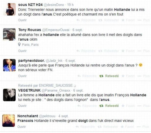 tweets%20hollande Comment le doigt dans lanus de Valérie Trierweiler sest retrouvé dans la bouche de Jean Marie Le Pen