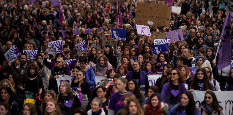 Manifestation à Barcelone le 25 novembre 2018, sous le slogan «Ensemble, nous avons enterré l'ordre patriarcal» | Josep Lago / AFP