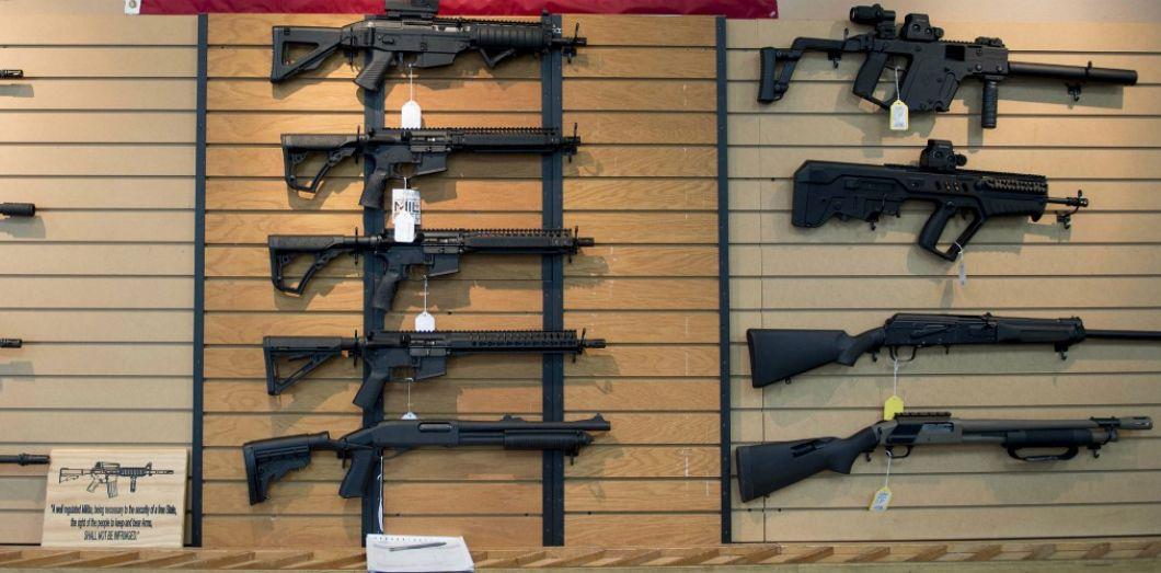 Des armes à vendre en Virginie,en octobre 2017. | Jim Watson / AFP