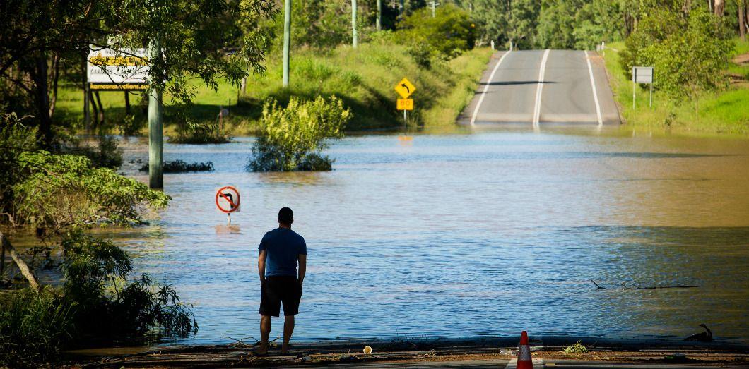 Inondations causées par le cyclone Debbie, le 1er avril 2017 à North MacLean, près de Brisbane, en Australie. |Patrick Hamilton / AFP