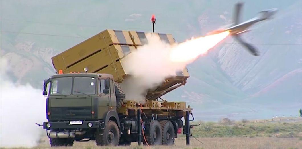 Lancement d'un Harop, montré dans un clip musical diffusé par le ministère de la Défense de la République d'Azerbaïdjan, en 2018. | Capture d'écran via YouTube